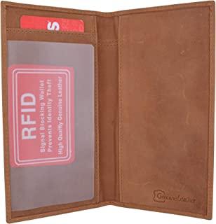 Brand New Hand Crafted Genuine Soft Leather Checkbook Cover simple-156