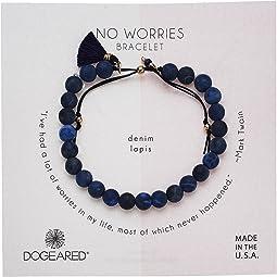 No Worries Bracelet, Matte Lavender Jasper Bead Stone Bracelet with Nylon Pull Cord