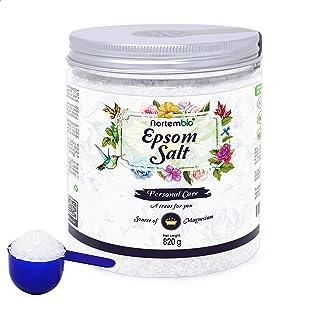 Nortembio Sal de Epsom 820 g. Fuente Concentrada de Magnesio. Sales 100% Puras. Baño y Cuidado Personal.