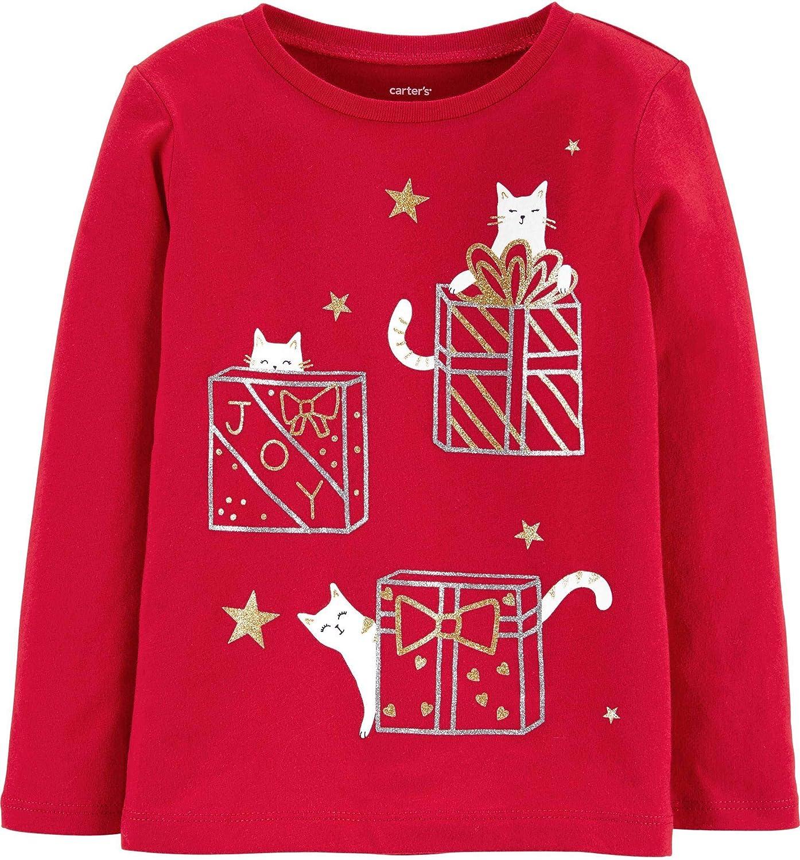 Carter's Girls Long Sleeve Christmas Holiday Tee