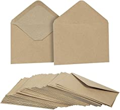 4x6 Kraft Paper Envelopes for Cards, Invitations (50 pack, 4 2/3 x 6 1/3 inch, Brown)
