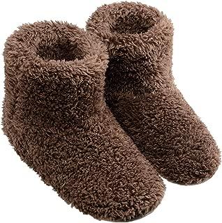 TWONE(トォネ) ルームシューズ 北欧 あったか もこもこルームブーツ 防寒 柔らかい 靴 冬 冷え性 冷え対策 可愛い ポカポカ 室内履き用スリッパ メンズ レディース 洗える 静音 (ブラウン, L)