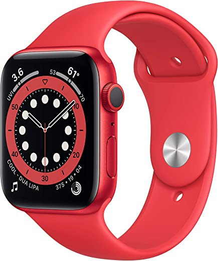 New AppleWatch Series 6 (GPS, 44mm) - Product(RED) - Aluminum Case with Product(RED) - Sport Band