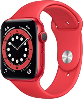 New Apple Watch Series 6 (GPS, 44mm) - (PRODUCT)RED - Aluminum Case with (PRODUCT)RED - Sport Band