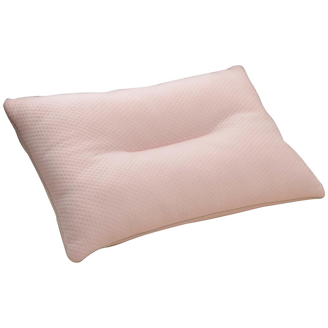 喪ねじれ技術者京都西川 枕 低反発チップ入り やわらかい もっちり もちもち まくら 35×50 ピンク 06-PL3601 M