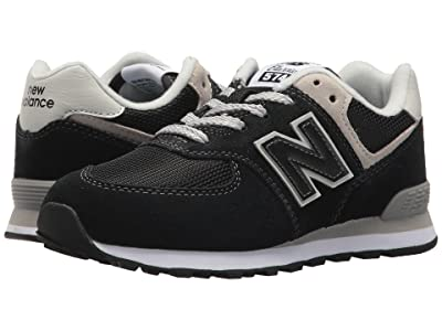 New Balance Kids PC574v1 (Little Kid) (Black/Grey) Boys Shoes