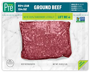 Pre, 85% Lean Ground Beef – 100% Grass-Fed, Grass- Finished, and Pasture-Raised – 16oz.