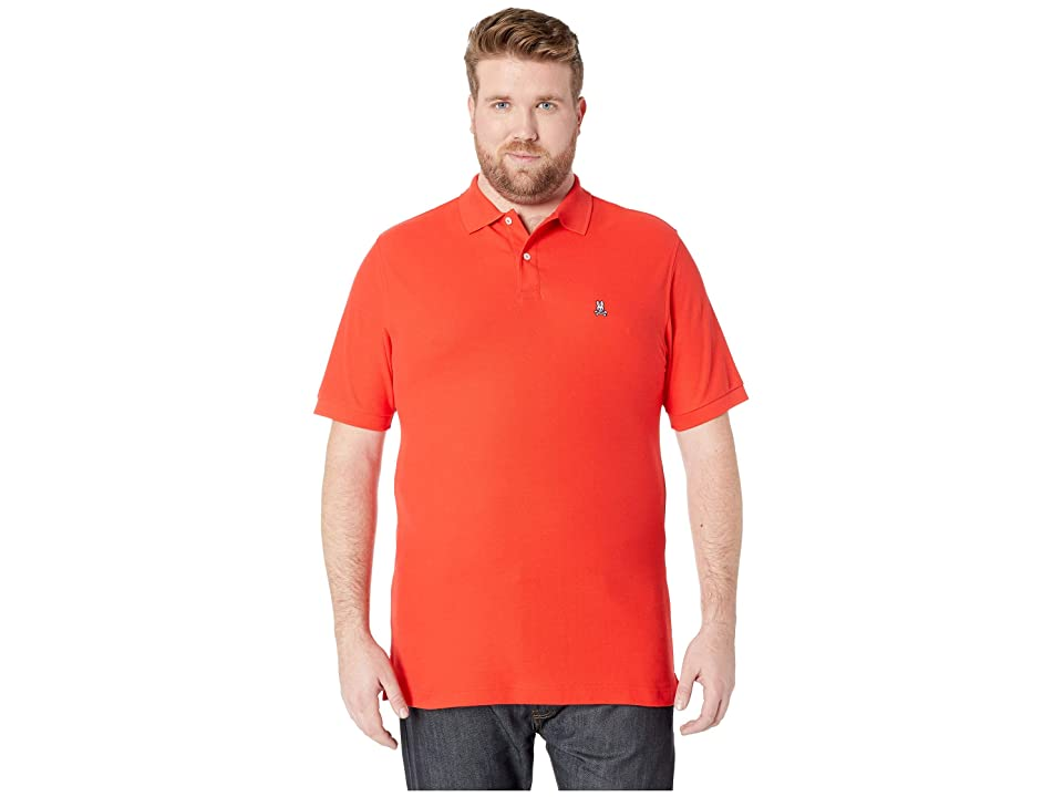 Psycho Bunny Big and Tall Classic Polo (Strawberry) Men
