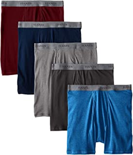 Hanes Ultimate Men's 5-Pack FreshIQ Dyed Boxer Brief - Colors May Vary,