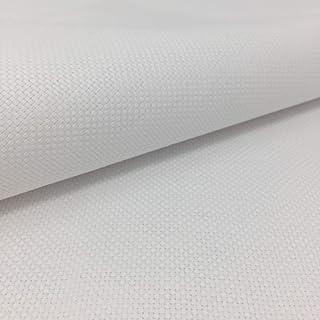 Delicatela Kreuzstich-Stoff, 75 cm x 50 cm, 5,5 Stiche/cm – 14 Counts/Zoll – 100 % Baumwolle – Farbe wählbar 75cm x 50cm weiß
