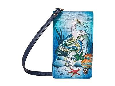 Anuschka Handbags Smartphone Crossbody 1154 (Little Mermaid) Handbags
