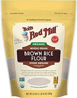 Bob's Red Mill Organic Brown Rice Flour, 24 Ounce (Pack of 4)