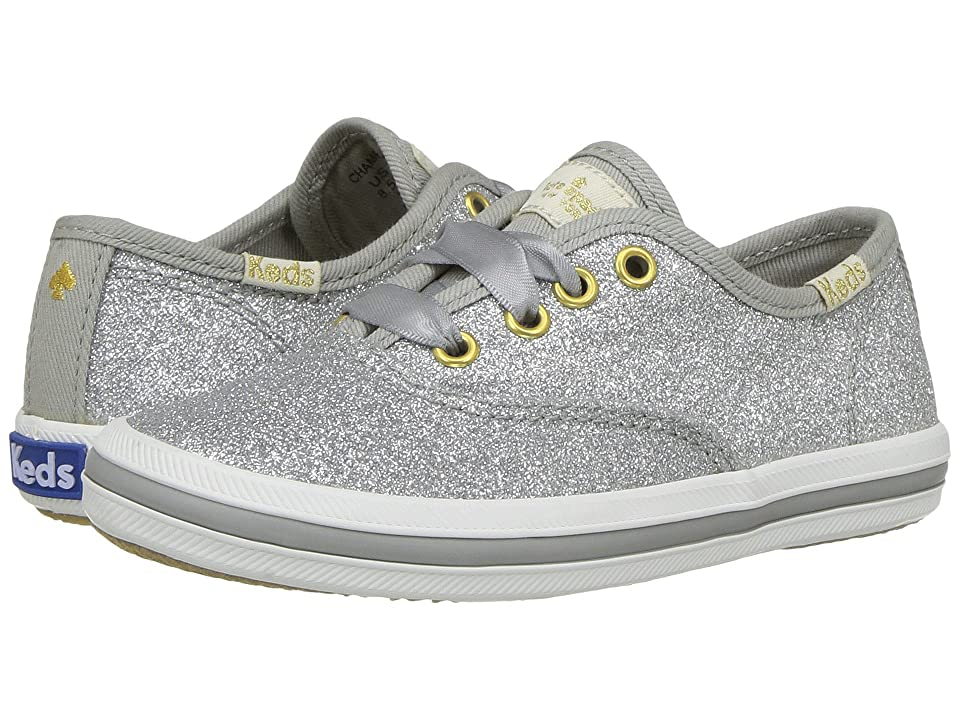 Keds x kate spade new york Kids Champion Glitter (Toddler) (Silver) Girl