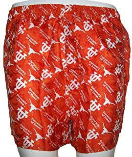 Merge Left College Classics UNIVERSITY OF TEXAS LONGHORNS 100% Silk Boxers