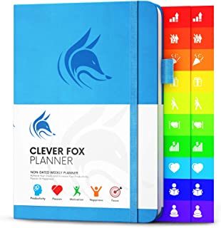 Clever Fox Planner – Weekly & Monthly Planner to Increase Productivity, Time Management and Hit Your Goals – Organizer, Gr...