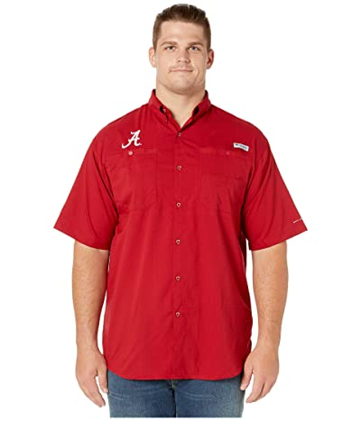 Columbia College Big Tall Alabama Crimson Tide Collegiate Tamiami II Short Sleeve Shirt (Red Velvet) Men
