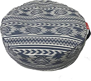 Aozora Zafu Meditation Cushion Yoga Inflatable Cotton Bolster Pillow Cushion Lightweight and Non-Slip with Premium Designs