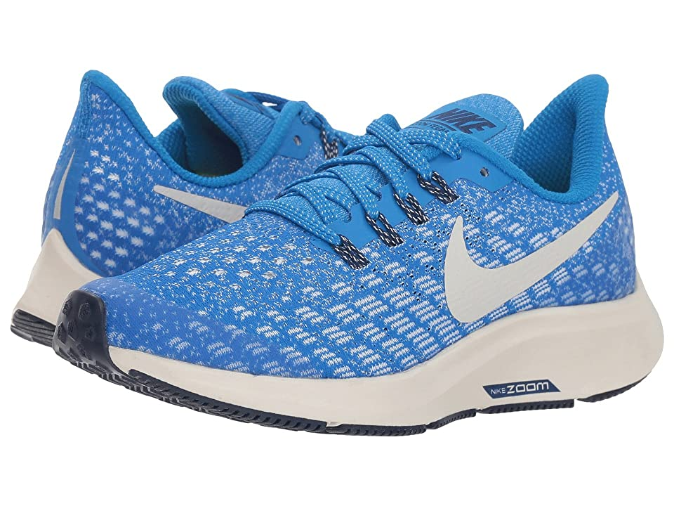 Nike Kids Air Zoom Pegasus 35 (Little Kid/Big Kid) (Cobalt Blaze/Light Bone/Sail/Blue Void) Boys Shoes