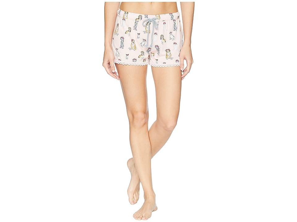P.J. Salvage Playful Prints Shorts (Blush) Women