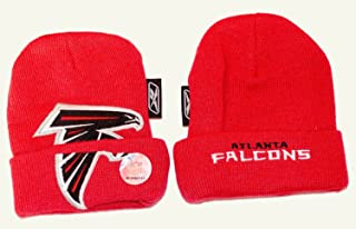 Reebok NFL Officially Licensed Atlanta Falcons Infant Embroidered Knit Beanie Hat Cap Lid Skull