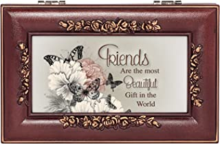 Friends Beautiful Gift Rose Wood Finish Jewelry Music Box Plays Canon in D