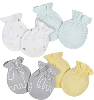 Baby Girls' 4-Pair Mittens