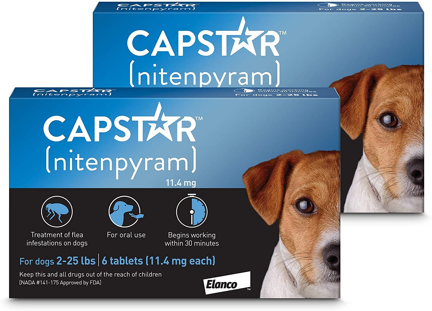Capstar Flea supreme Tablets for Max 84% OFF Dogs 2-25 lbs. CT of 12 Count