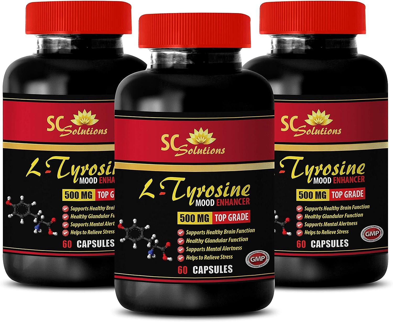 Wellness - L TYROSINE 500MG Sup Blood It is very 5% OFF popular Enhancer Pressure Mood