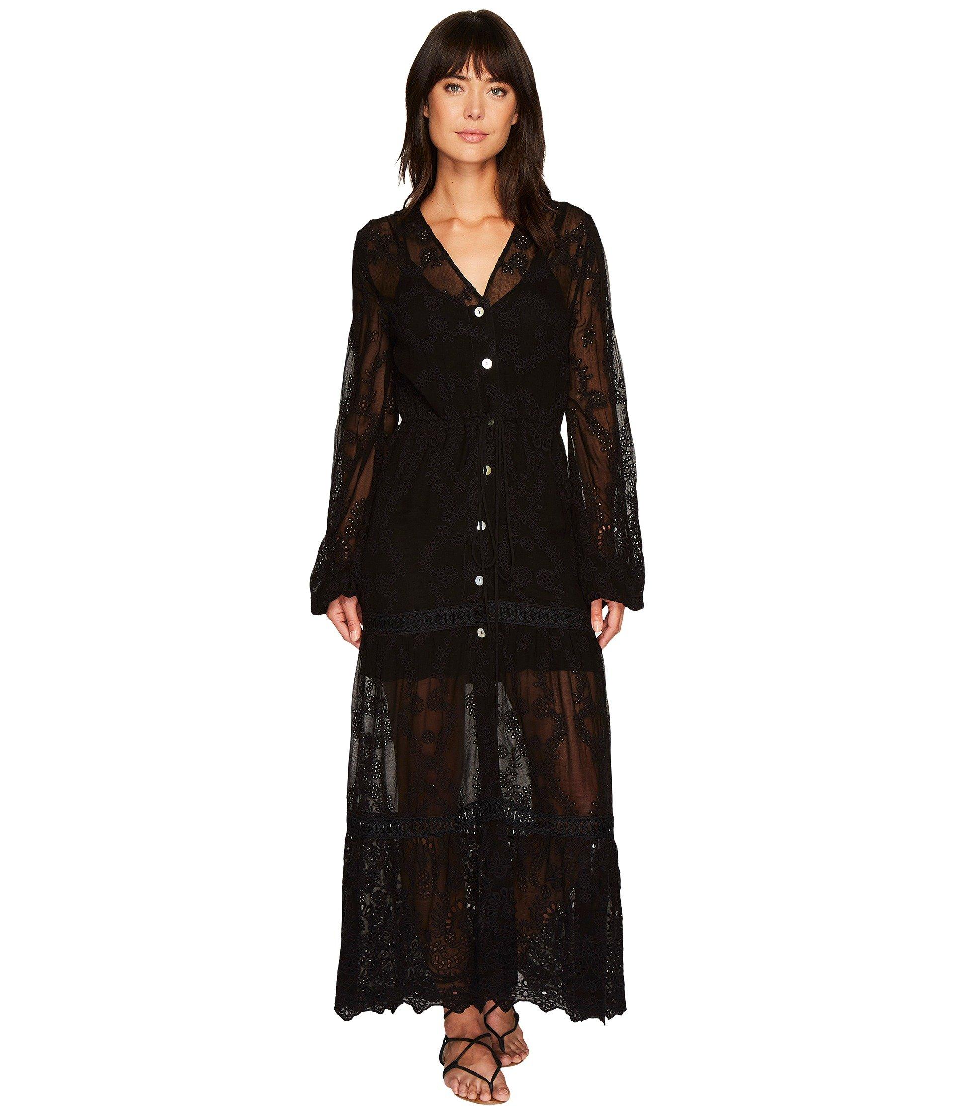JEN'S PIRATE BOOTY Nicobar Dress Duster, Black Eyelet