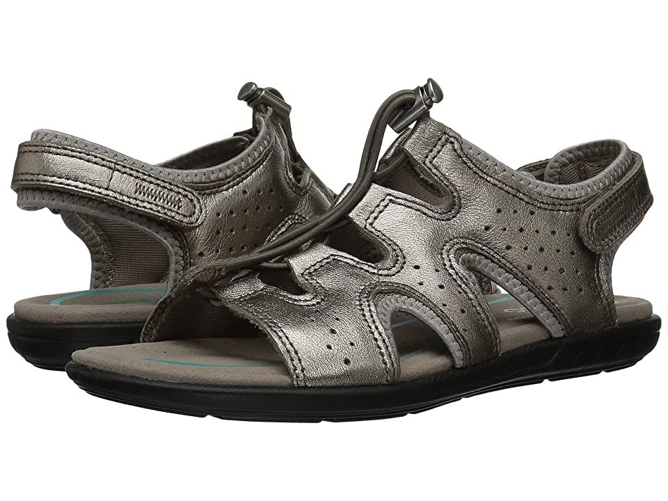 ECCO Bluma Toggle Sandal (Warm Grey Metallic Cow Leather) Women