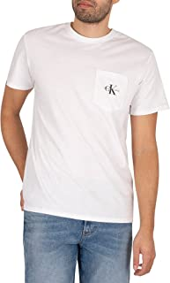 Calvin Klein Jeans Men's Monogram Pocket T-Shirt, White, XS