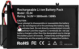 Futurebatt El04xl El04 Replacement Laptop Battery for Hp Envy Touchsmart 4 Hp Envy 4-1000 Series p/n: 681949-001 681879-1C1 TPN-C102 681879-171 681879-541 HSTNN-IB3R HSTNN-UB3R 56Wh 3800mah