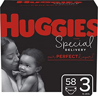 Huggies Special Delivery Hypoallergenic Baby Diapers, Size 3 (16-28 lbs.), 58 Count, Giga Jr. Pack