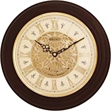 SEIKO Wood Wall Clock (32 x 32 x 5.8 cm, Brown)