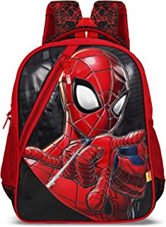 Priority Disney Spiderman 32 LTR Polyester School Bag, Casual Bags for Boys, Girls, Kids Backpack Durable and Sturdy in Red
