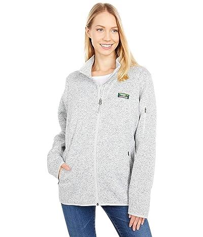 L.L.Bean Sweater Fleece Full Zip Jacket (Pewter) Women