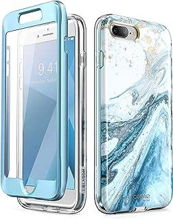 i-Blason Cosmo Glitter Clear Bumper Case for iPhone 8 Plus/iPhone 7 Plus, Blue