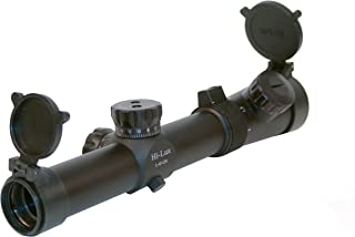 Hi-Lux Optics CMR Series 1-4x24mm Close-Medium Range Tactical Riflescope with Green Illuminated Special CMR-AK Ranging Glass Reticle, Matte Black