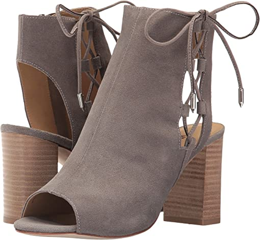 Taupe Rory Suede/Silver Trim