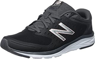 New Balance Women's 490V5 Running-Shoes,Black/Magnet,7 B US