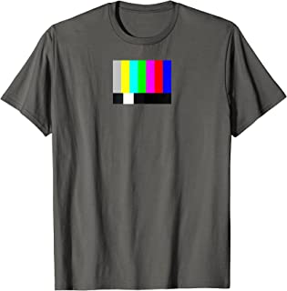 Color Bar TV Test Pattern T-shirt
