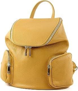 modamoda de T175 - ital Damen Rucksack Tasche aus Leder