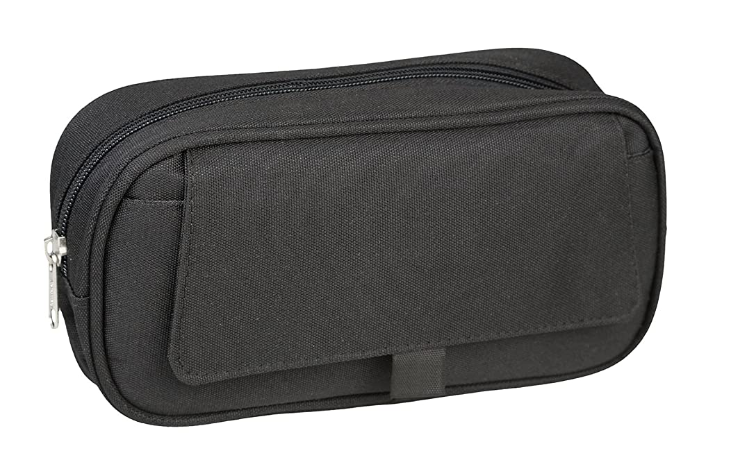 IDENA 21422?–?Case with Flap and 1?Compartment Pencil Case 23.5?x 12.5?x 5.5?cm Black