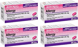 Assured Allergy Medicine in Tablet, Caplet and Softgel Forms, Phenylephrine HCl, Acetaminophen, Diphenhydramine HCl 25 mg,...