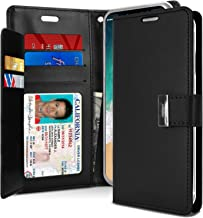iPhone Xs Case, iPhone X case [Drop Protection] Goospery Rich Diary [ID/Card & Cash Slots] Premium PU Leather Wallet Case [Magnetic Closure] Flip Cover for Apple iPhone Xs/X (Rich Black) IPX-RIC-BLK