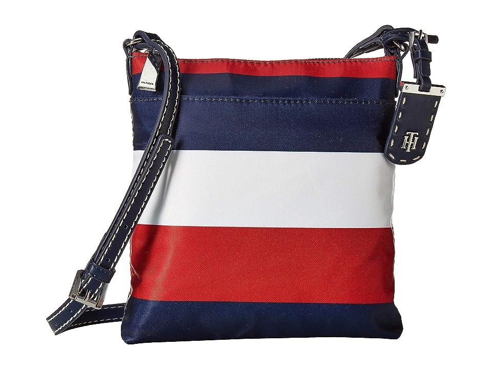 Tommy Hilfiger Julia North/South Crossbody (Navy/Red/White) Cross Body Handbags