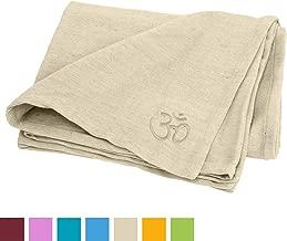 Coton Robuste Remplissage et Couleur au Choix Housse Amovible 65 x 23 cm Lavable /à 30/°C Passant pour Le Transport Coussin Bolster de Yoga Basic env