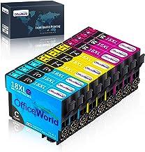 OfficeWorld 18XL Alta Capacidad Cartuchos de Tinta Compatible para Epson 18 con Epson Expression Home XP-225 XP-215 XP-205 XP-322 XP-212 XP-402 XP-415 XP-422 XP-425 XP-302 XP-305 XP-325,9 Paquete