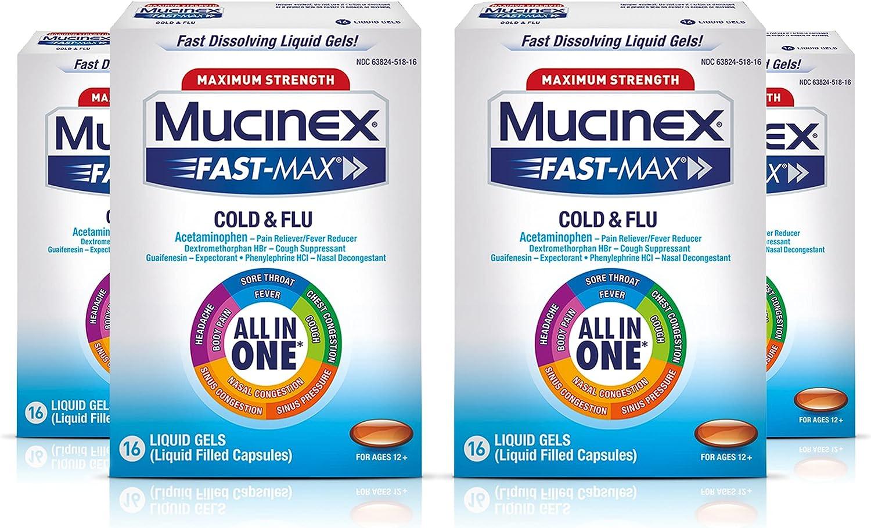 Mucinex Fast-Max Maximum Strength Cold One Multi-S Flu All 永遠の定番 正規激安 in
