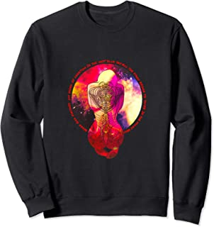 Magic Tattoo Inked Woman Praying to the Stars of the Galaxy Sweatshirt
